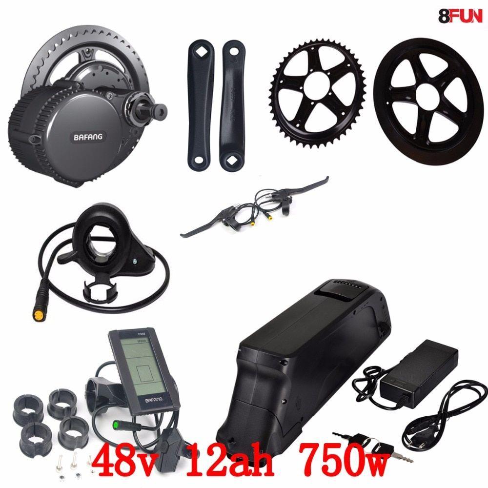 Bafang Bbs02 48v 750w Electric Bike Motor 8fun Mid Drive Electric