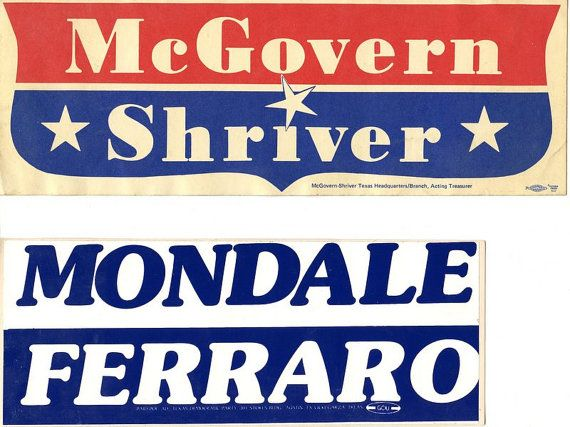 Four vintage political bumper stickers by starstevestuff on etsy