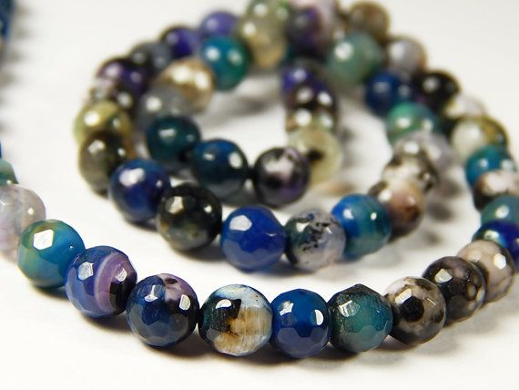 15 Inch Strand  6mm Faceted Multicolor Fire by DesertSunBeads