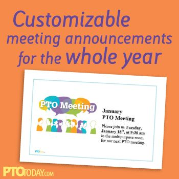 Fun and free printable template for announcing meetings - meetings template