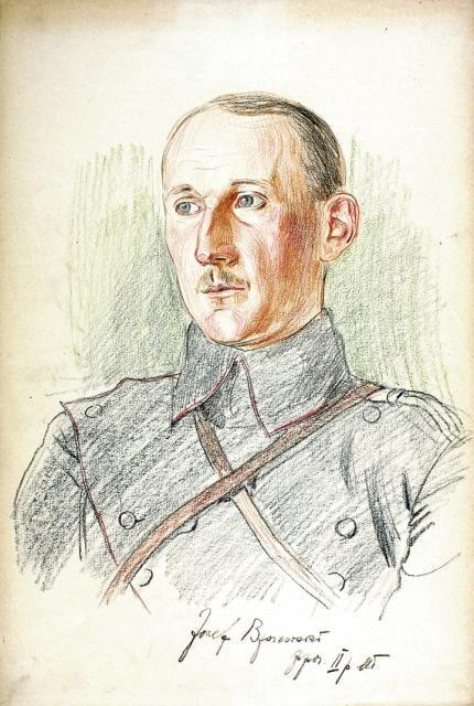 Ppor. Józef Brzozowski, 2 p. uł., rys. Wincenty Wodzinowski