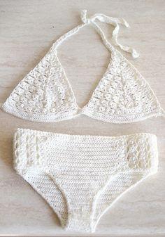 Crochet bikini Swimsuit crochet with microfibre thread by MarryG