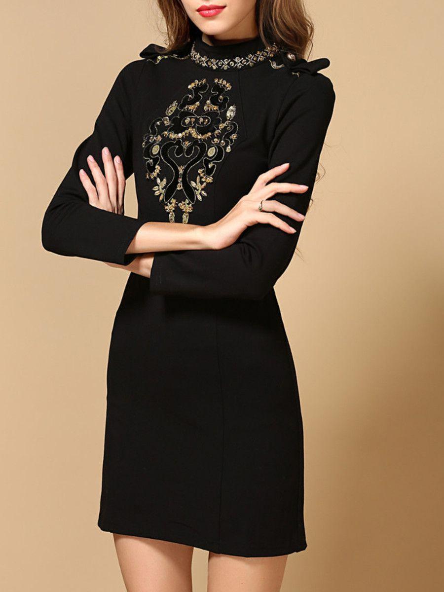 Glitterfinished cotton mini dress style pinterest long