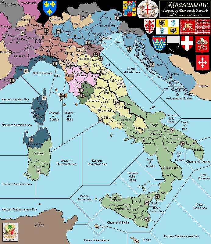 Cartina Dellitalia Nel 400.Mappa Dell Italia Rinascimentale Per La Variante Di Diplomacy Rinascimento Mappa Dell Italia Storia Rinascimento Italiano
