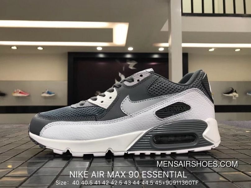 120b98956b1117 ... Nike Air Max 90 Essential 537384-073 Mens Retro Running Shoes COOL GREY  WOLF latest  Women Men New ...