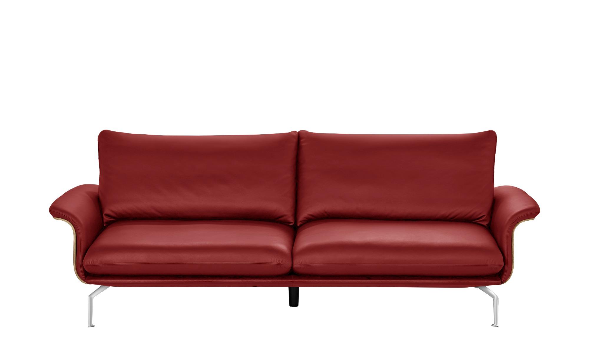 Pflege Ledersofa sofa rot - kunstleder/leder lina ¦ rot ¦ maße (cm): b: 247 h: 87 t
