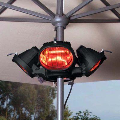 Heatmaster Popular Parasol Gazebo Patio Heater 4 X 500w Halogen 2kw Patio Heater Outdoor