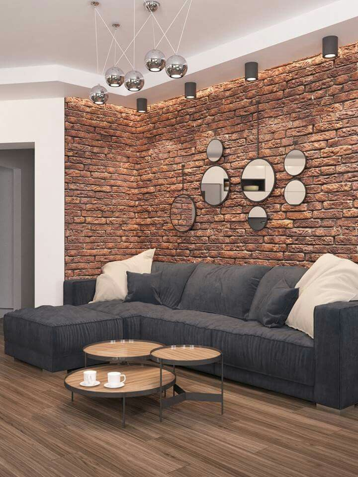 Dawar siddiqui brick accent walls living room modern designs also idee table basse decoration interieure in home decor rh pinterest