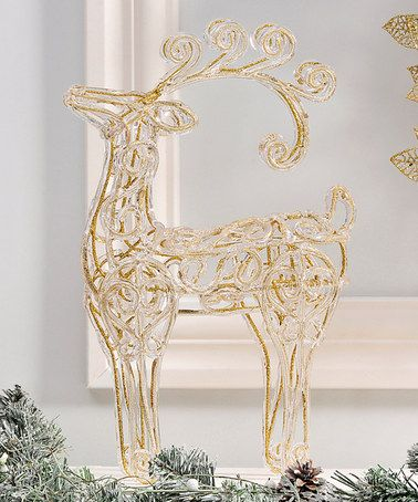 Look at this #zulilyfind! Glitter Reindeer Table Décor #zulilyfinds