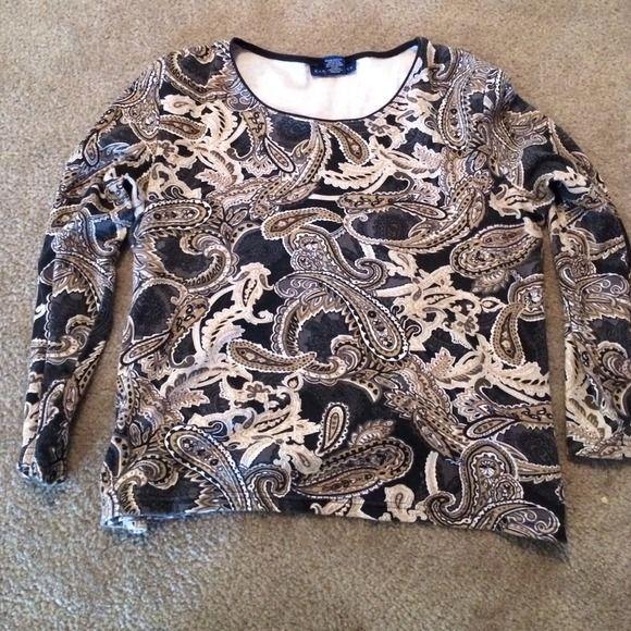 PRICE DROPBrown Karen Scott Shirt - Large Brown Karen Scott Shirt - Large Karen Scott Tops
