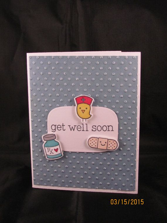 Items similar to Adorable Lawn Fawn Get Well Soon Card on Etsy