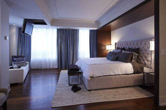 Modern Condominium Master Bedroom Interior With Best Lights And Curtains  Window Decor Part 3