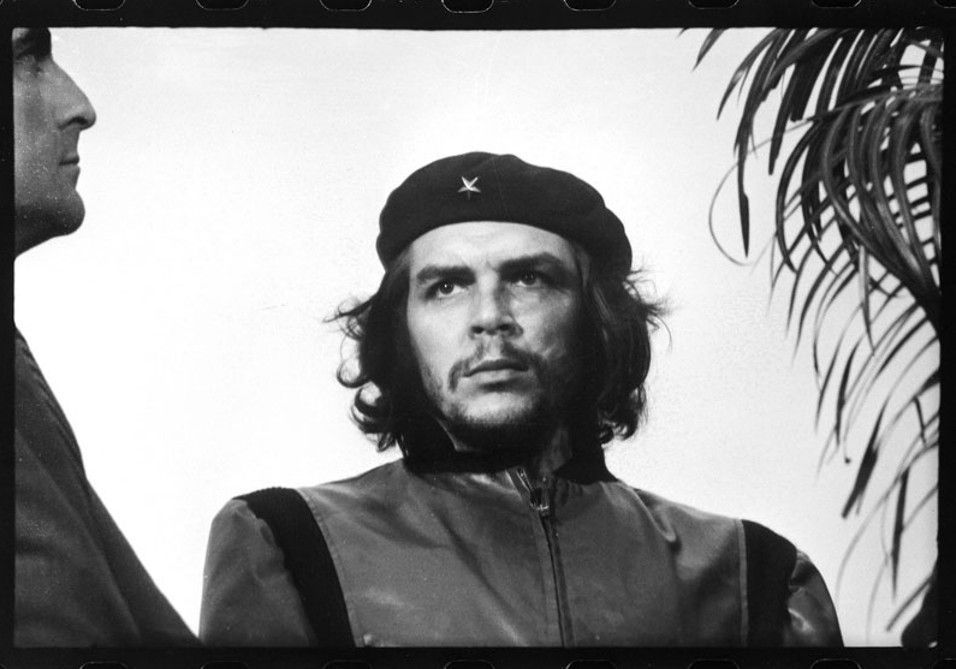"""Original frame of 'Guerrillero Heroico', an iconic photo of Che Guevara wearing his black beret taken by photographer Alberto Korda on March 5, 1960, in Havana, Cuba, at a memorial service for victims of the La Coubre explosion. Korda has said that at the moment he shot the picture, he was drawn to Guevara's facial expression, which showed """"absolute implacability""""as well as anger and pain."""