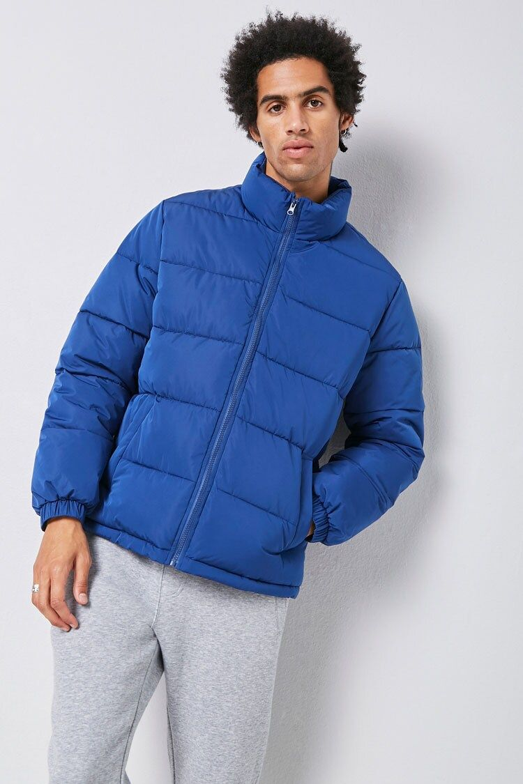 Zip Up Puffer Jacket Forever 21 Puffer Jackets Jackets Puffer [ 1125 x 750 Pixel ]