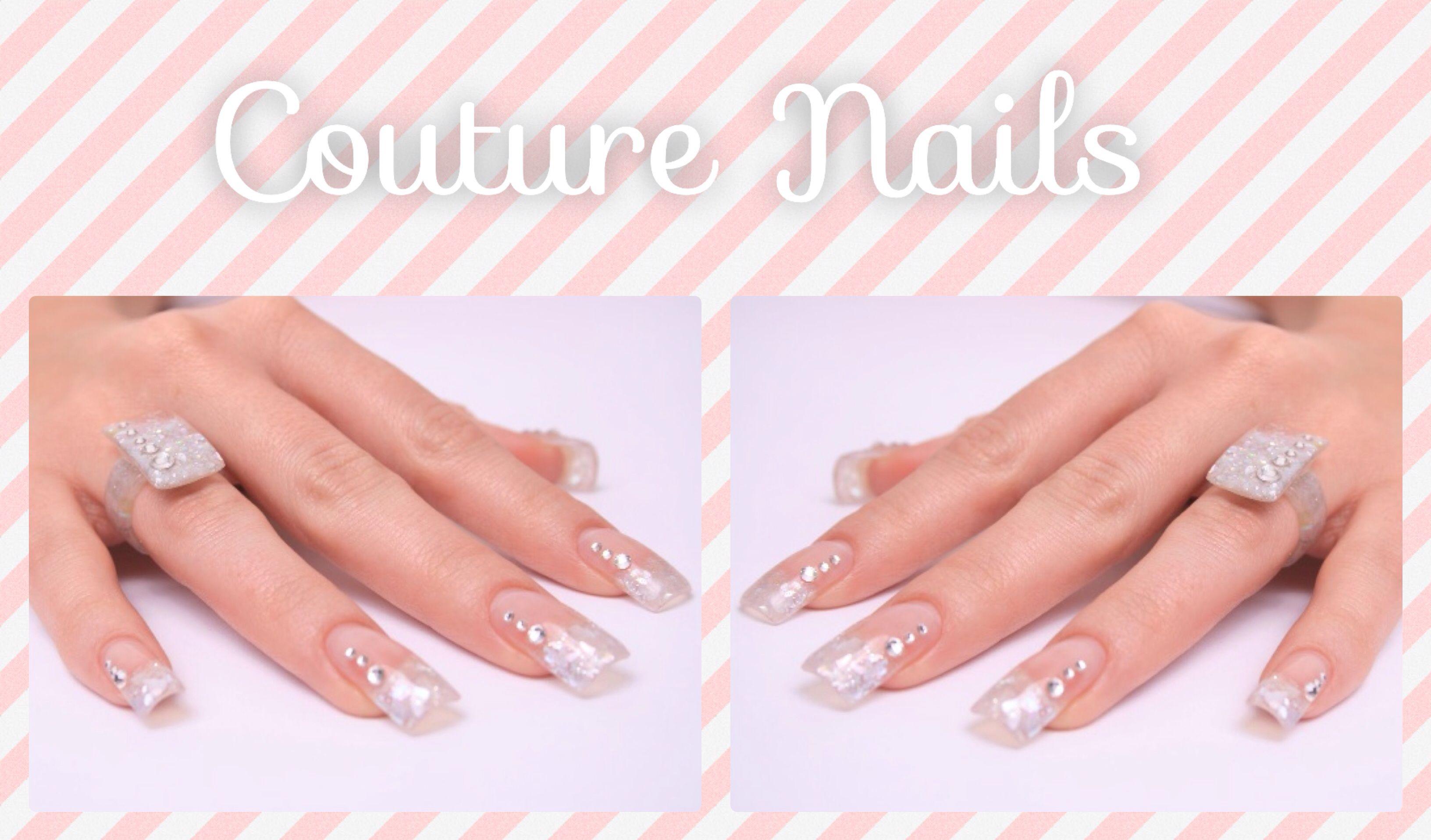 #Couture #Nails #Diseños para lucir #manos #bellas #beauty #bodas #fiesta #brilla #shine #love