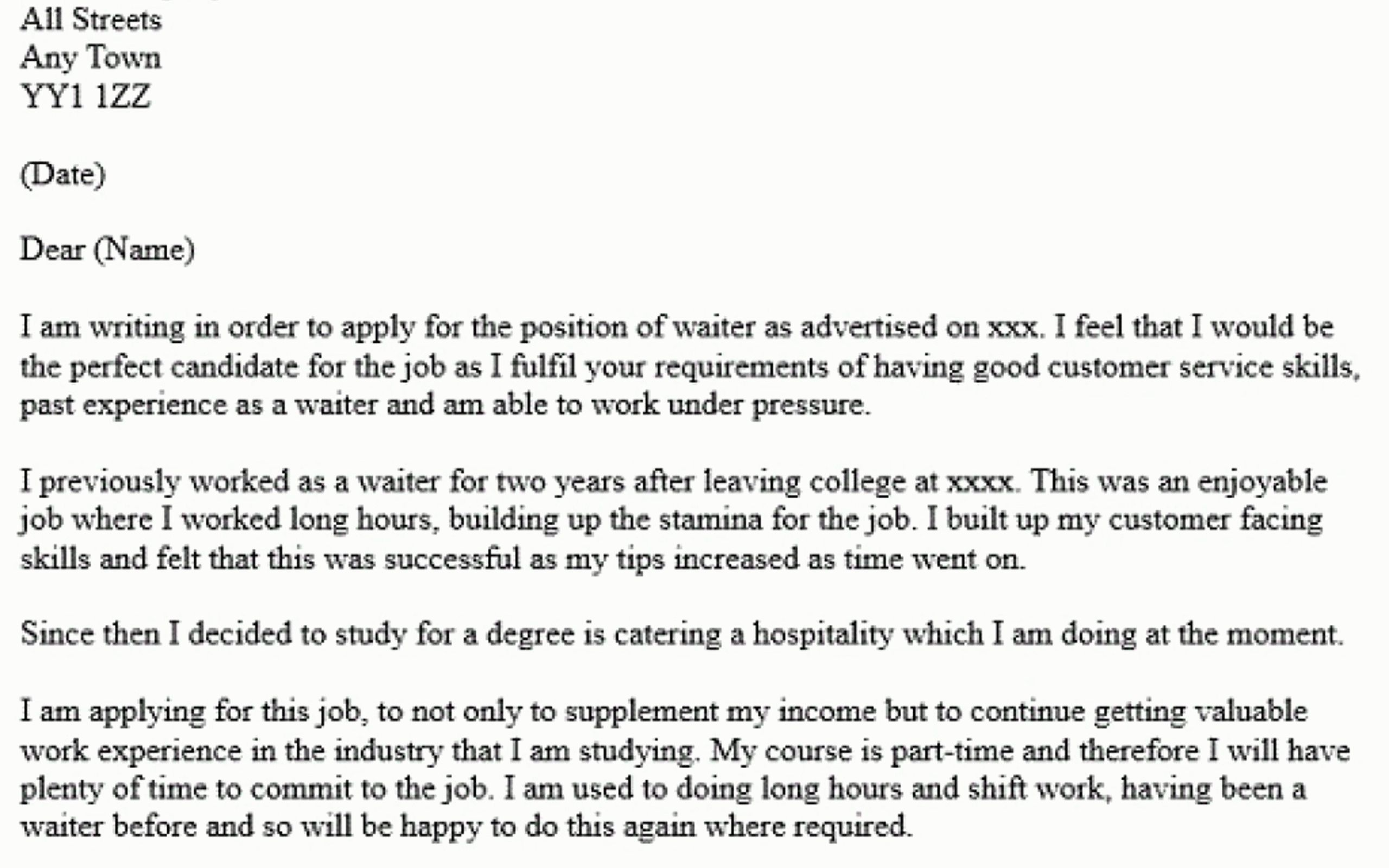 Waiter cover letter sample choice image letter samples format cover letter waitress example images letter samples format cover letter waitress example ideas discipline in schools madrichimfo Gallery