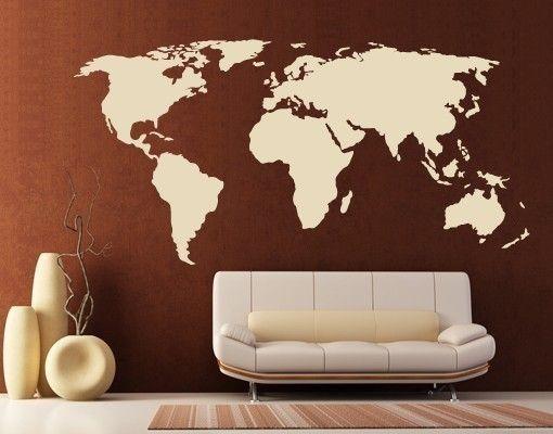 Wandtattoo Weltkarte Wandtattoos Gewerbe U0026 Büro Büro