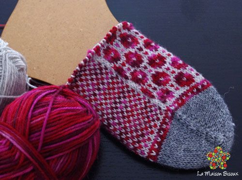 Summary Top-down, stranded colorwork, five double-pointed needles ...