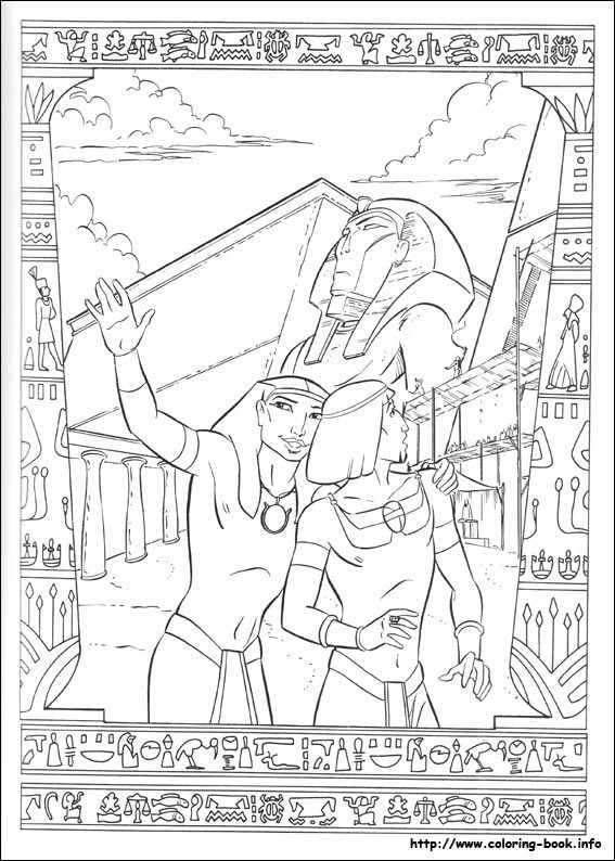 The Prince of Egypt coloring picture | Coloring for kid。 | Pinterest