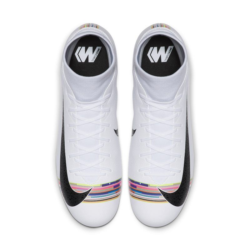 Nike Kids Mercurial Superfly 6 Academy GS Turf Soccer Shoes WhiteBlackPure Platinum