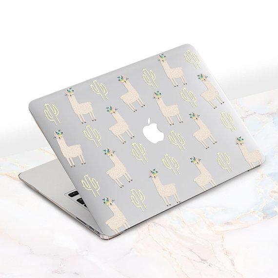 watch 561ff 36ee1 Cute Llama Macbook Case Fun Animal Macbook Case Flowers Laptop Cover ...