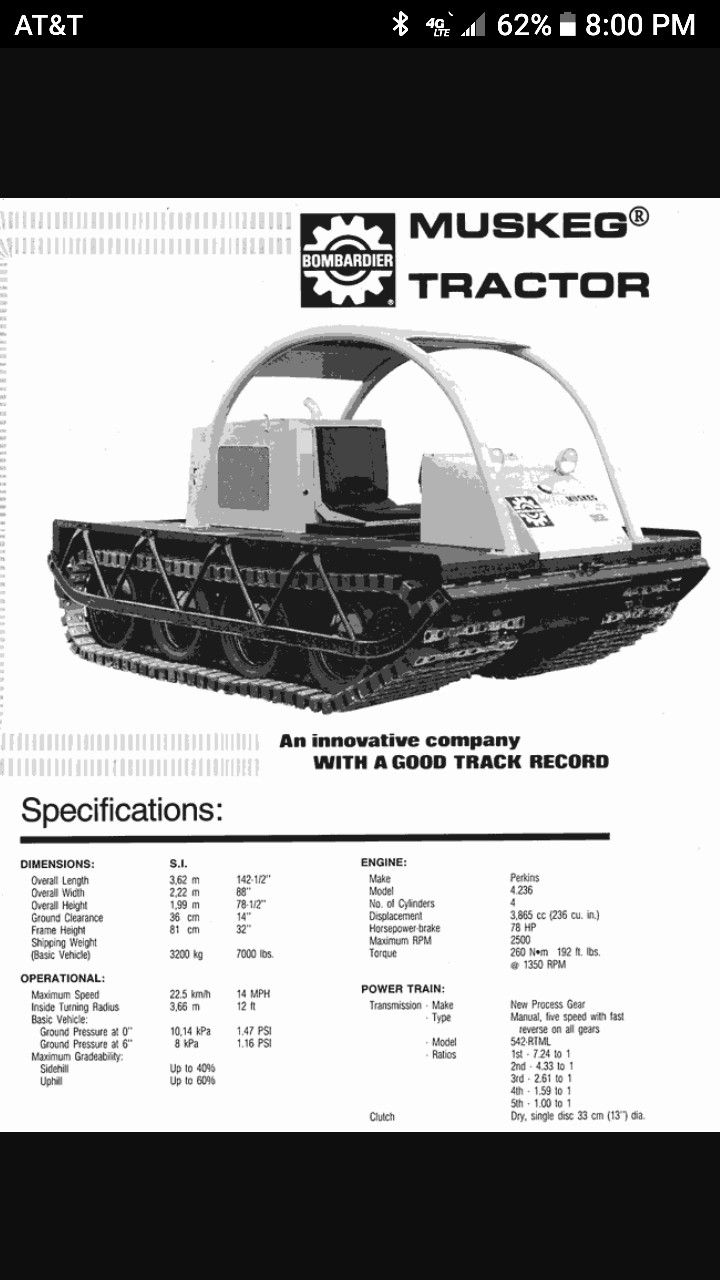 Muskeg J5 Crawler Carriers Autos Traktor