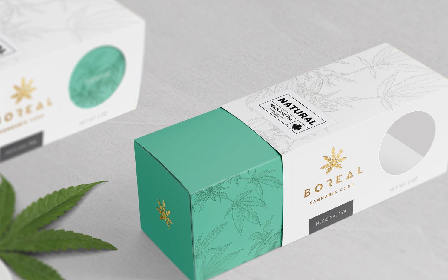 Identity and Packaging Design Concepts for Boreal Cannabis Natural Tea #teapackaging