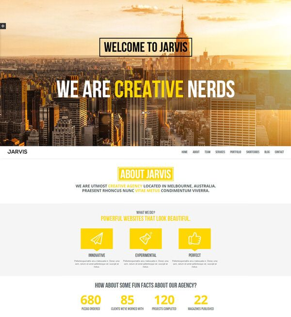 Jarvis - One-Page HTML5 Template | Pitch me | Pinterest | Template ...