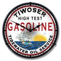 Tiwoser Tidewater Oil Clock Gas Lights Clock Unique Clocks