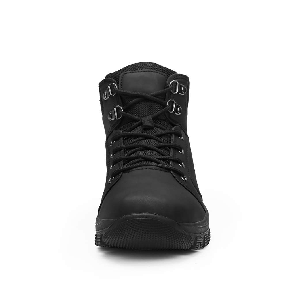 4bdcae237a Mens Hiking Trekking Snow Boots Winter Waterproof Shoes Lace Up AntiSlip  Ankle Outdoor Shoes with Warm Fully Fur Lined Black Casual 39   Want  additional ...