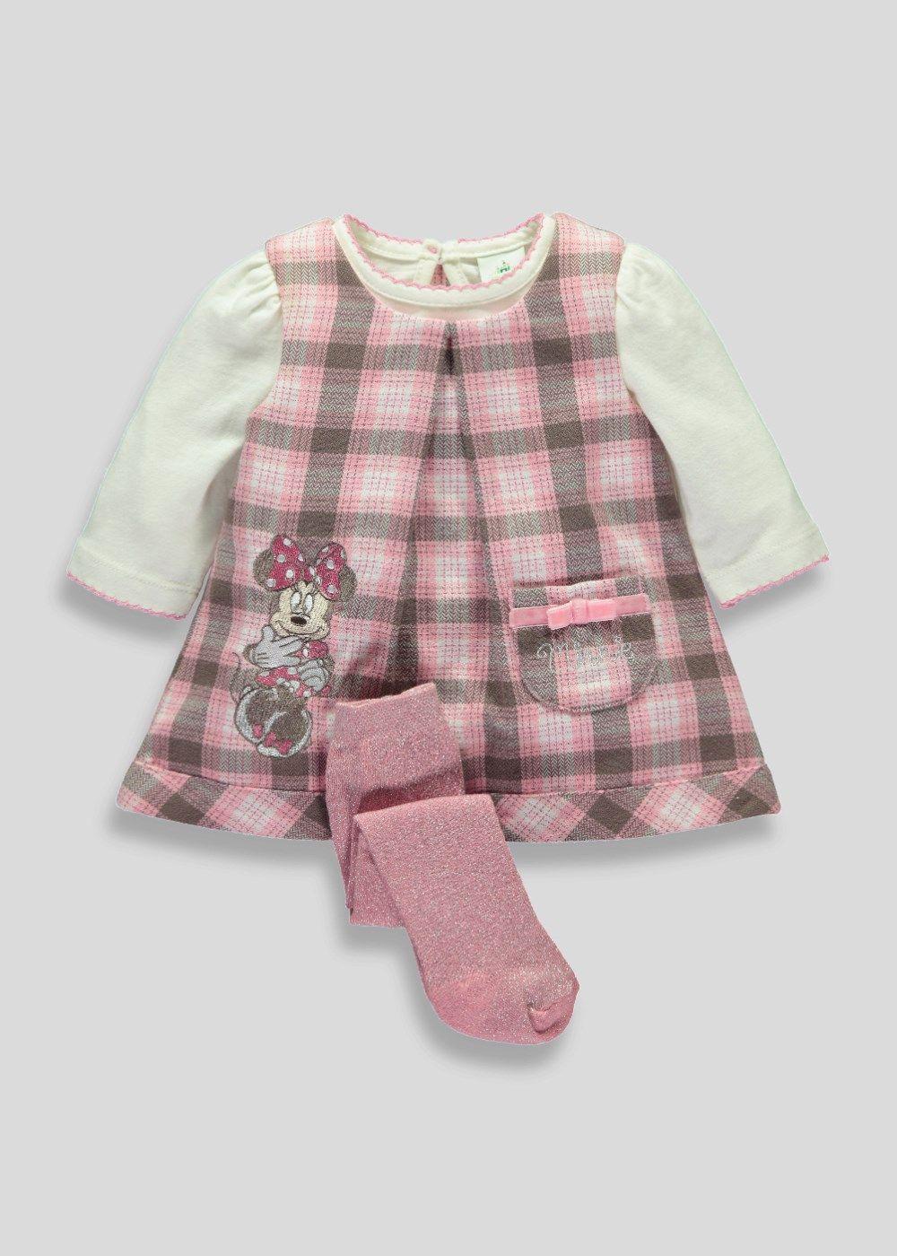 df61c5acbb5 Girls Disney Minnie Mouse Dress Set (Newborn - 18mths) - Matalan ...