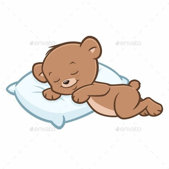 cartoon teddy bear sleeping for open when letters pinterest