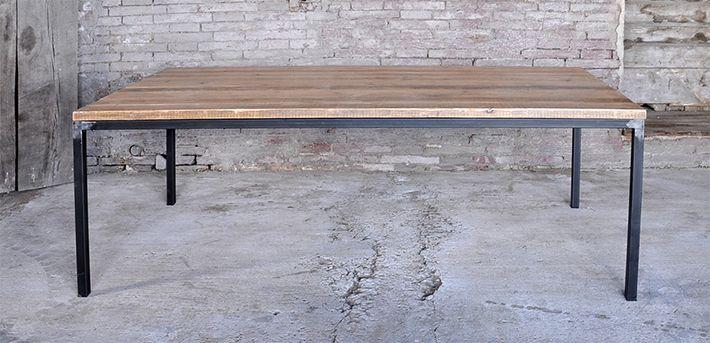 tavolo in ferro brunito e legno - Cerca con Google | Tavoli ...