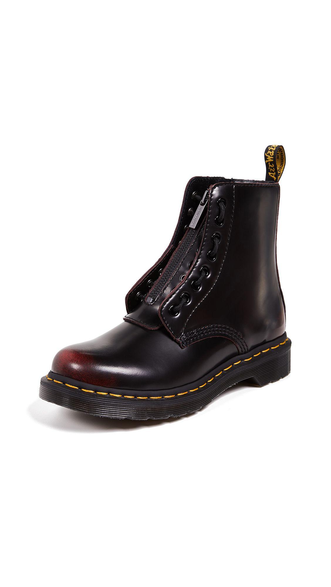 b7af906892e89 Shop DR. MARTENS 1460 PASCAL FRONT ZIP 8 EYE BOOTS