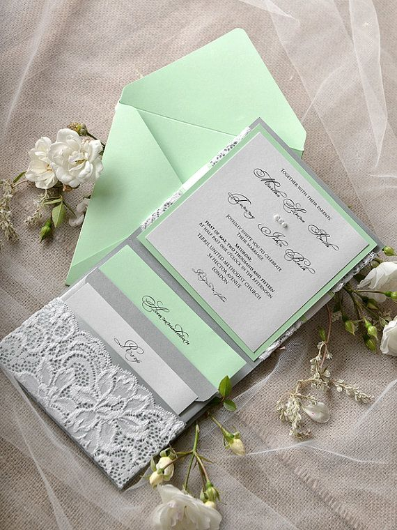 Custom Listing 20 Silver and Mint Wedding por forlovepolkadots