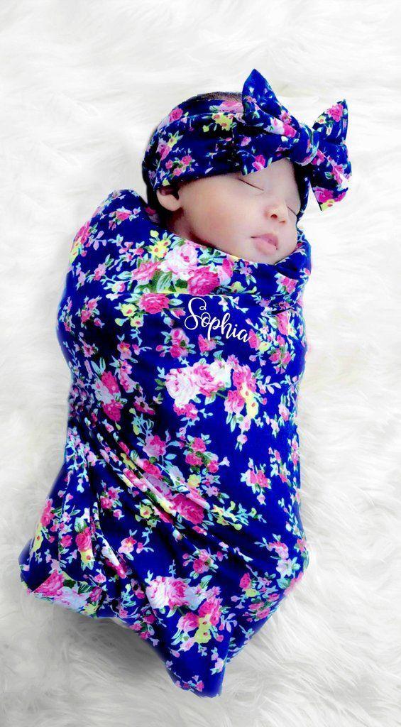 2958bde815c Baby Girl Blanket   Headband