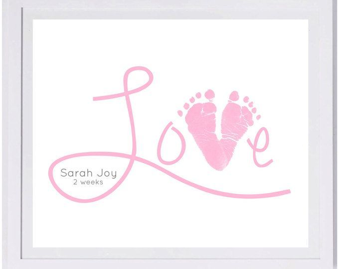 Baby Footprint Art, Forever Prints hand and footprint keepsake for kids or baby. Mother's Day...