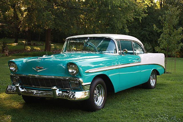 1956 Chevy Bel Air | 1956 chevy bel air coupe color tropical torquoise and ivy #…