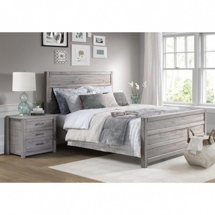 Gray Master Bedroom Grey Set, Grain Wood Furniture Montauk Queen Solid Panel Bed Rustic Walnut