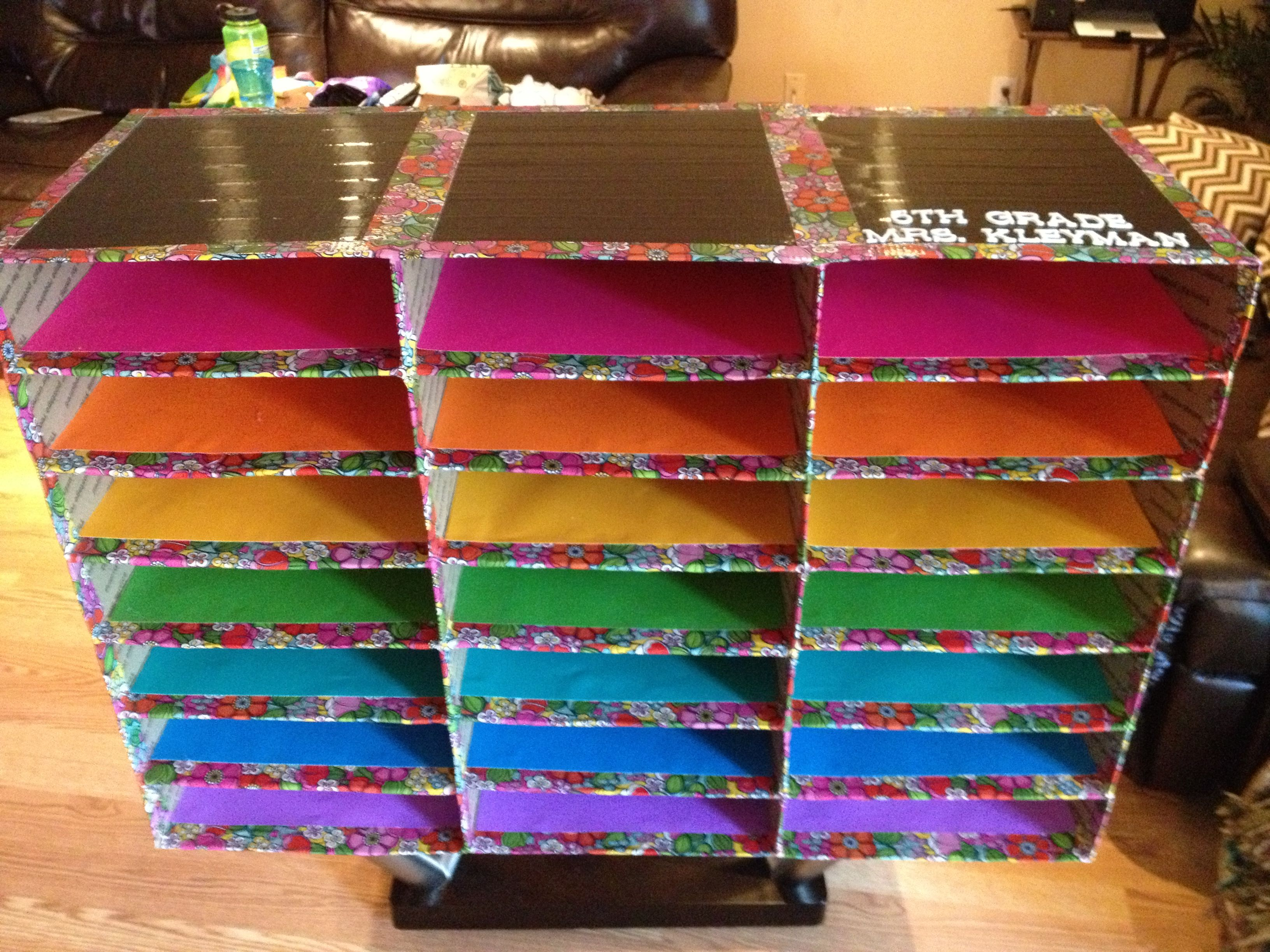 My Diy Classroom Mailboxes Using Flat Rate Shipping Boxes