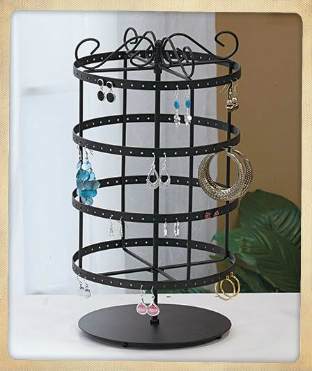 72 Holes Earring Jewelry Necklace Display Rack Metal Stand Holder Organizer   | eBay