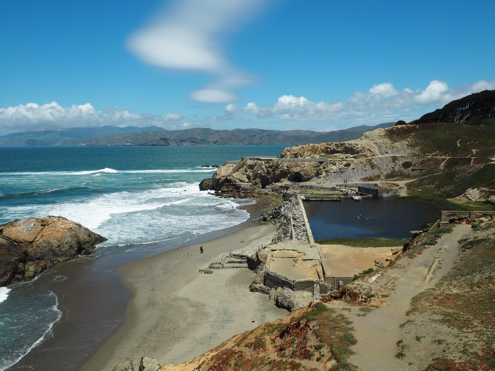 JAM at Sutro Baths, Ocean Beach, San Francisco, USA.  America Road Trip.