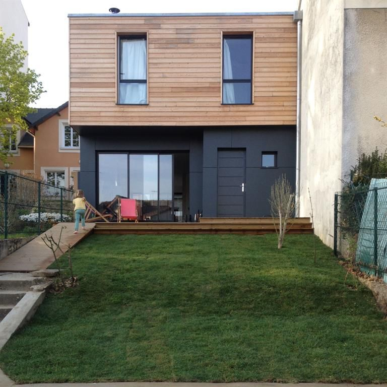 Facade Sud Cot Jardin Sur Rue Architecture Pinterest