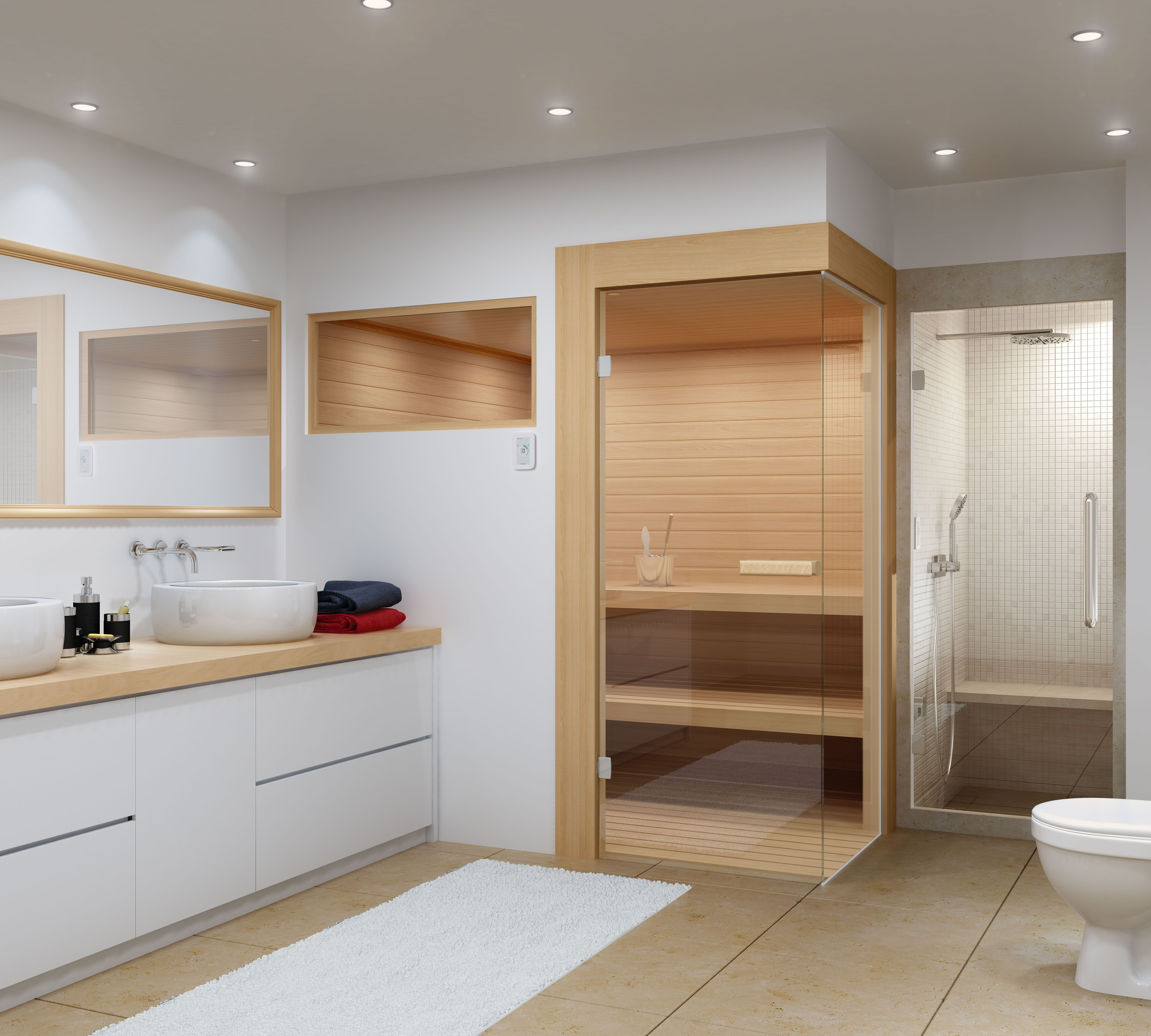 Amerec Sees Trend to Include Both Sauna and Steam in Bathroom ...