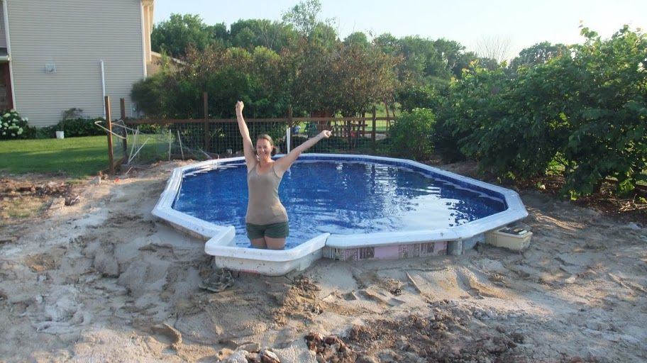 16x24 abg doughboy inground in ground pools semi