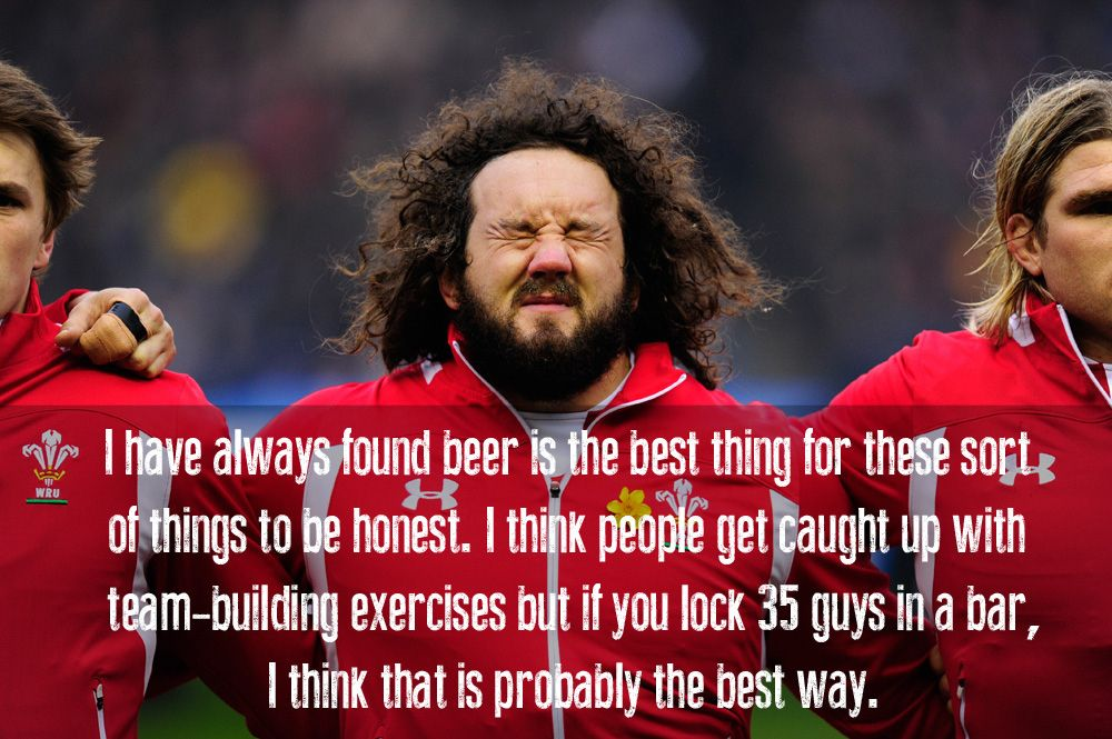 Welsh Rugby Star Adam Jones Thoughts On Team Building Welsh Rugby Rugby Quotes Rugby