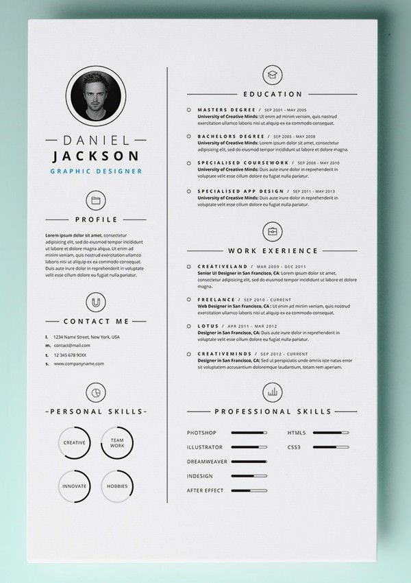 Simple Resume Template vol4 , Mac Resume Template – Great for More ...
