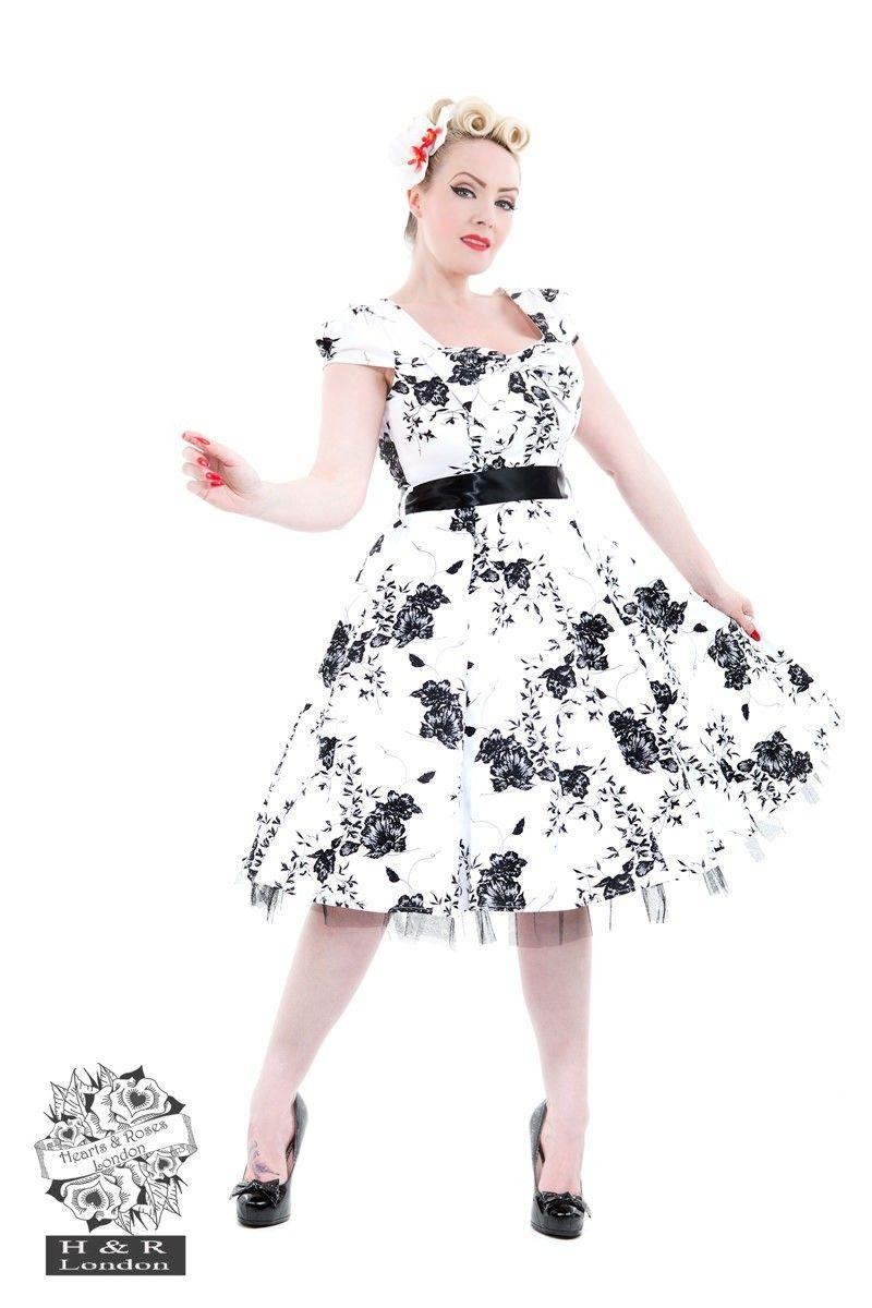 Robe a fleur noir et blanche