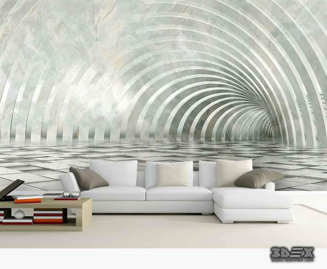 Black And White 3d Wallpaper Designs For Living Room Walls New