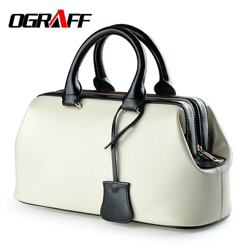 OGRAFF 2017 정품 가죽 가방 달러 가격 명품 핸드백 여성 가방 디자이너 유명 브랜드 빈티지 핸드백 메신저 가방